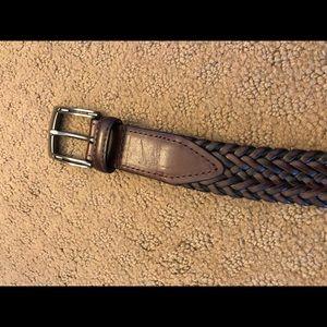 "Nike golf stretch woven belt leather men's 32"""